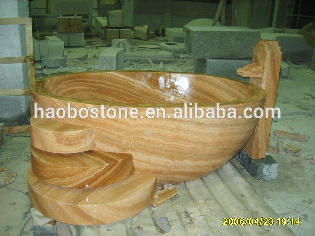 Look what I found Via Alibaba.com App: - Wholesale Yellow Wooden Marble Bathtub Surround