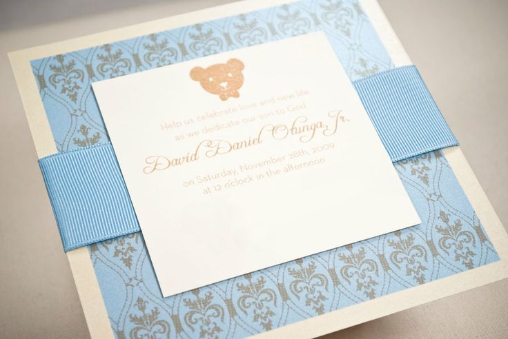 super sweet invitation for a christening (would also work for a baby shower!)