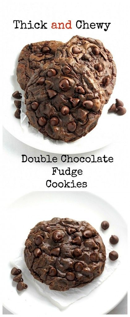 Soft Batch Double Chocolate Fudge Cookies - these are AMAZING! Like chocolate cookie fudge!