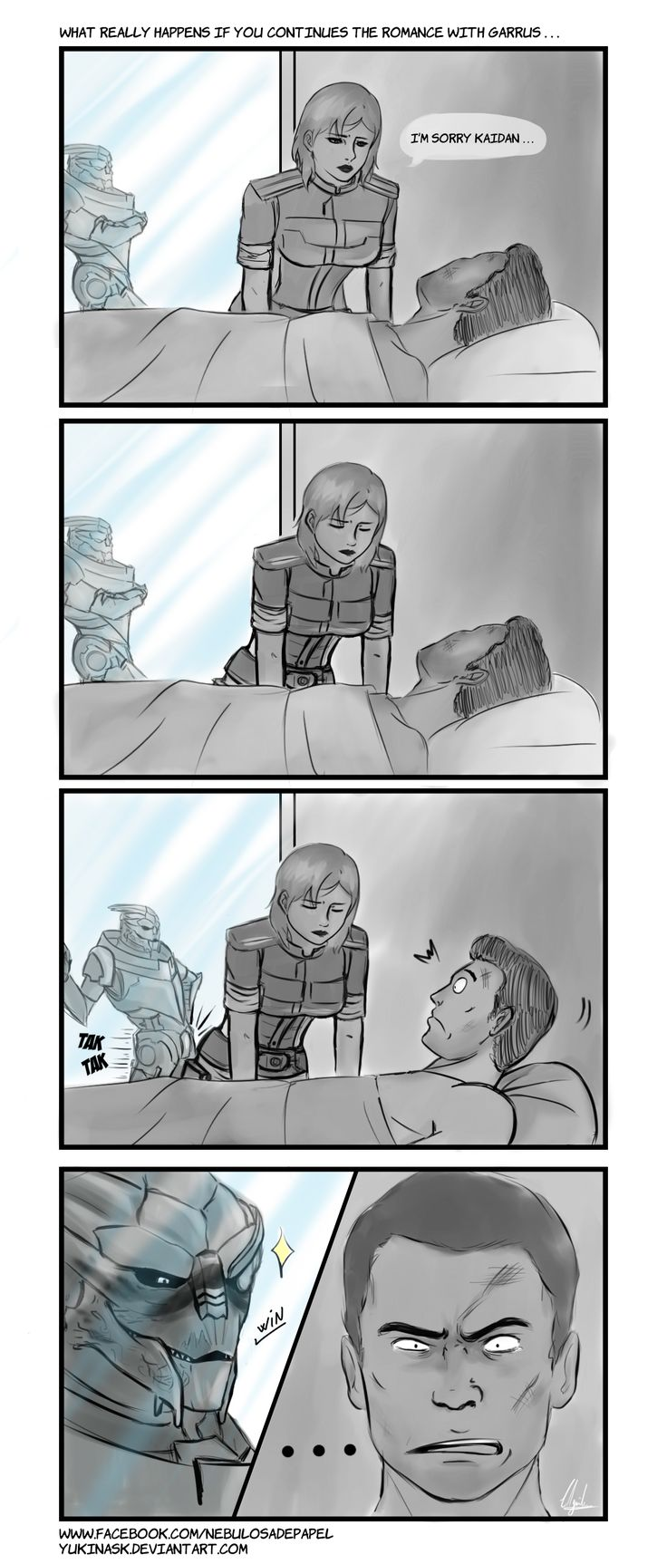 Hospital - Garrus and Kaidan by YukinaSk / Oh lol xD