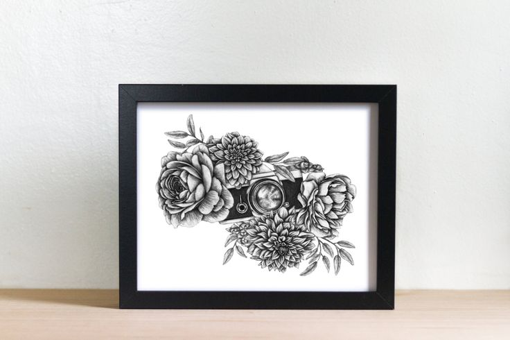 Click to purchase Vintage Camera Artwork Photography Art for Sale Camera and Flowers Illustration Art for the Home Gifts for Her Photographer Gifts #art #forsale #home #homedecor #wallart #vintage #photography