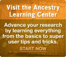 Have you visited the Ancestry.com Learning Center? Lots of really great tips and tricks for using Ancestry.com to research your family history. #genealogy
