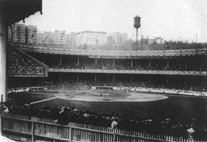 Polo Grounds during World Series Game in 1913-Iwas there in 1958.