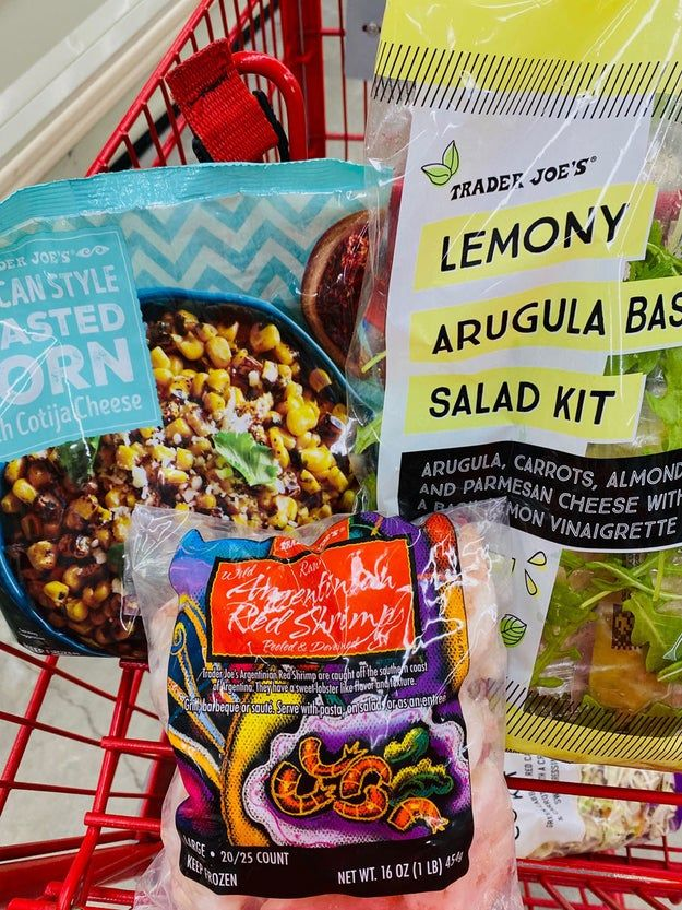 12 Three Ingredient Trader Joe S Meals I Swear By When I M Not Sure What To Cook Trader Joes Recipes Roasted Corn Frozen Shrimp