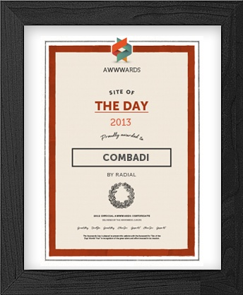 Combadi.com is Site of the Day at Awwwards.com