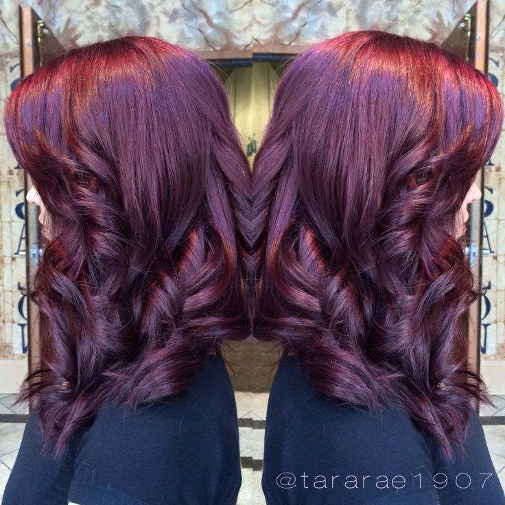 Purple hair on Whitney #spaatlantis #purplehair #plum # ...