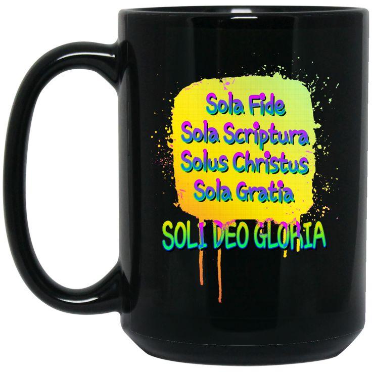 5 SOLAS OF THE CHRISTIAN REFORMATION BM15OZ 15 oz. Black Mug
