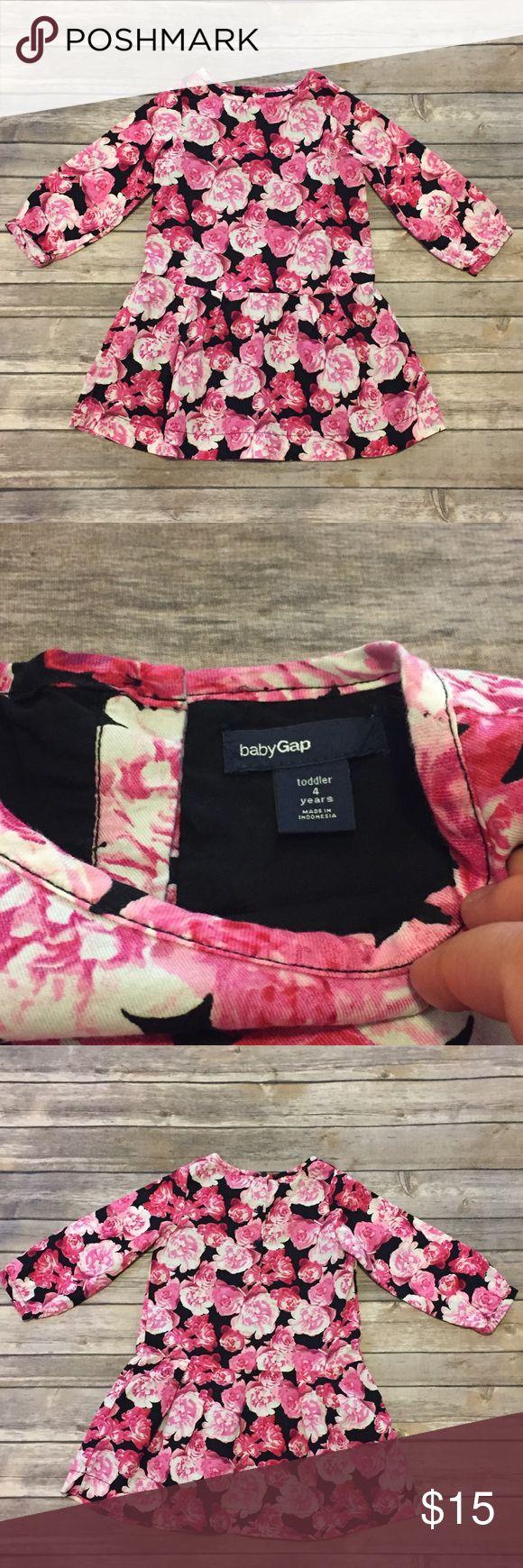 Baby Gap Dress, 4T Baby Gap Dress, 4T, lined rose dress 3/4 sleeves, slight drop waist. Buttons at back, EUC GAP Dresses