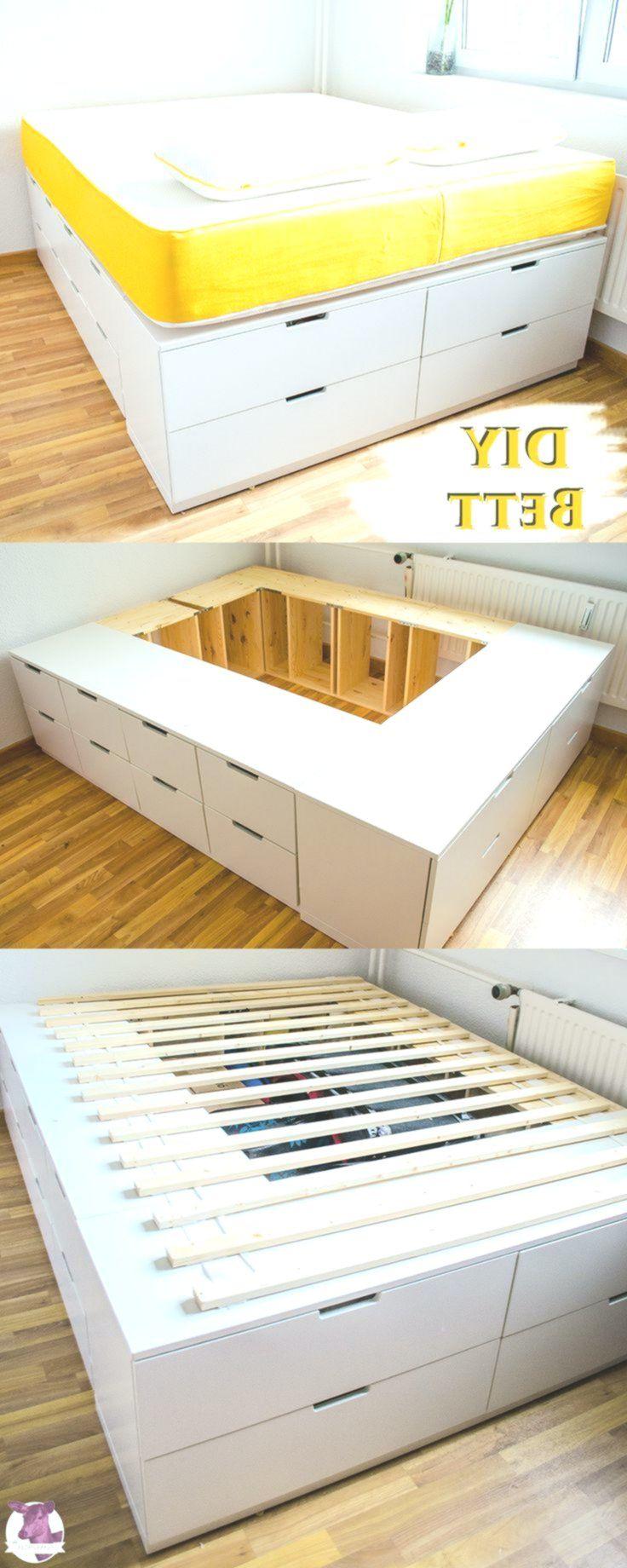 Diy Ikea Hack Stabiles Sehr Hohes Bett Mit Viel Stauraum Zum Selberbauen Diyydeko Club Ikea Diy Diy Ikea Hacks Diy Furniture Bedroom