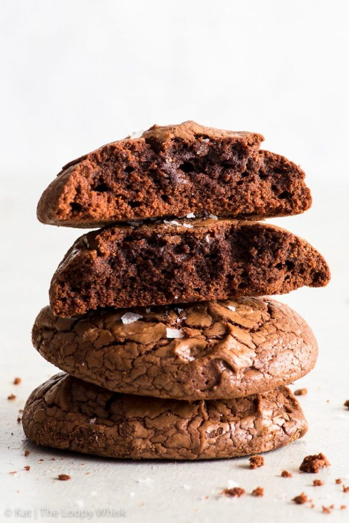 Fudgy Chocolate Brownie Cookies Gluten Free Ridiculously Fudgy