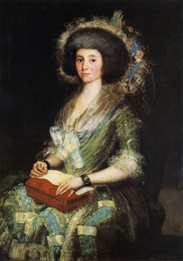 Esposa de Juan Agustín Ceán Bermúdez  - Francisco de Goya  ~Repinned Via Amparo Mañez