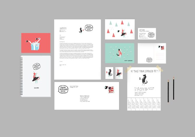 Visual identity for Your Spoiled Pets, doggy day care www.sofieensby.com