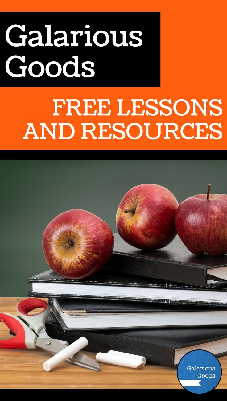 Free classroom lessons, resources and activities from Galarious Goods