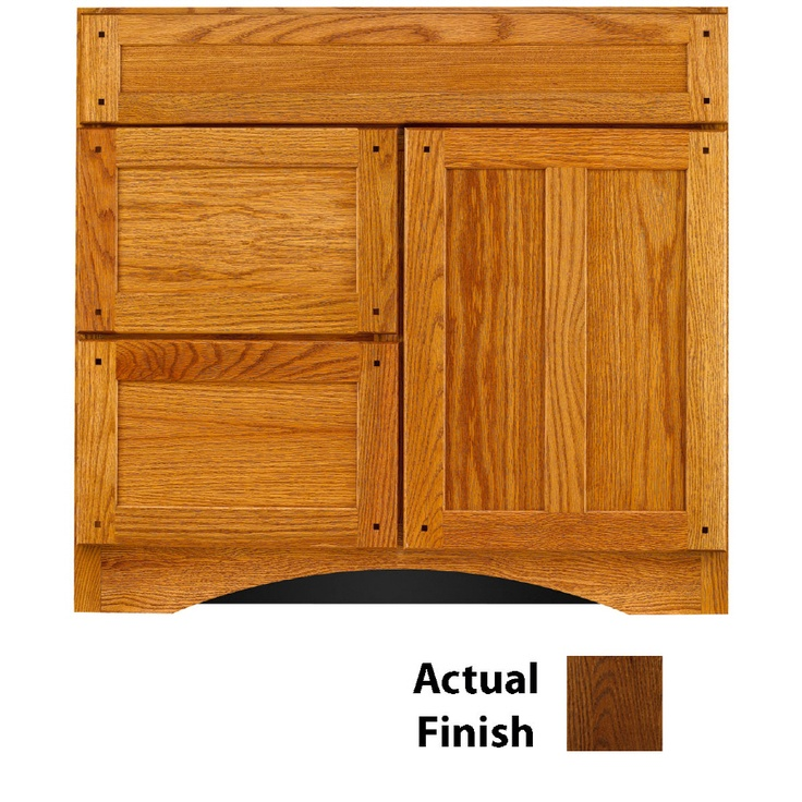 Pic Of Shop KraftMaid Cognac Bathroom Vanity Common x Actual