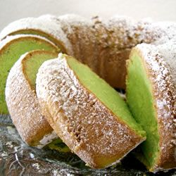 Pistachio Cake. This is a great recipe! I made 12 cupcakes with this recipe and put the rest in a loaf pan. Very moist and delicious! I frosted them with a cream cheese frosting.
