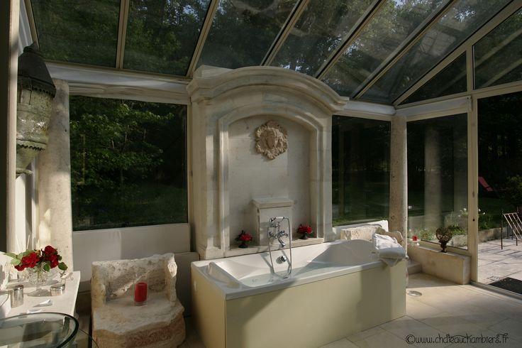 La salle de bain de notre suite, le Pavillon de France