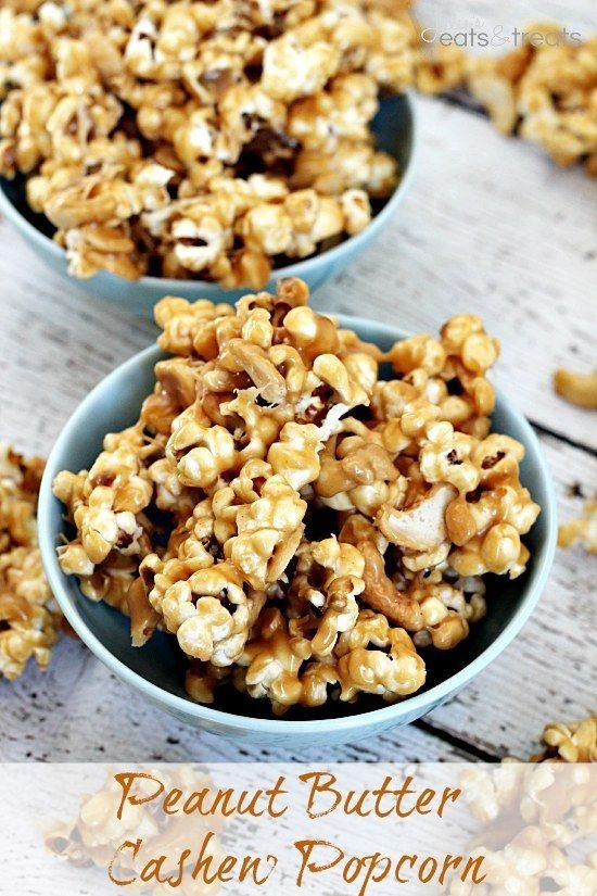 Pipoca de manteiga de amendoim e castanha de caju | 13 receitas loucamente incríveis de pipoca para maratonas no Netflix
