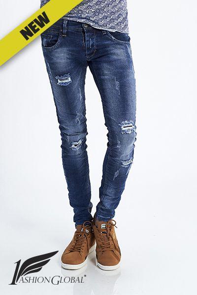 Pantalon roto hombre
