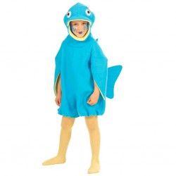 Disfraz de Pez Azul infantil.  Calentito disfraz de Pez para el pequeño de la casa. No dejes escapar este original disfraz.