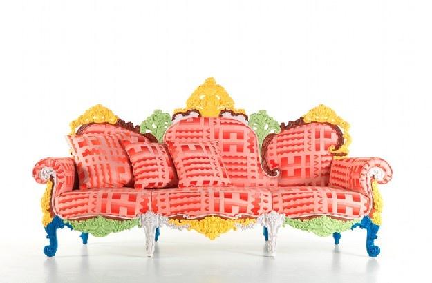 Imaginative and bizarre in a fun way: Italian master Alessandro Mendini's sofa.