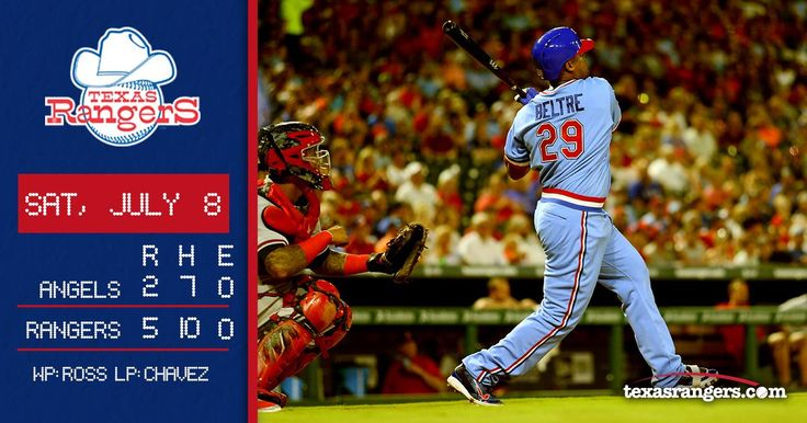 Beltre goes deep as Rangers top Angels at home 7-8-2017. | @Rangers) Twitter