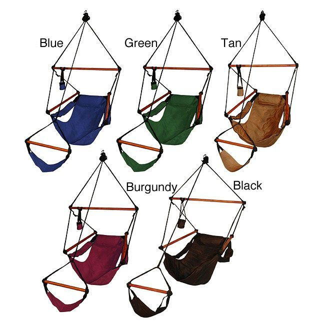 Experience absolute relaxation with this deluxe hanging hammock chair