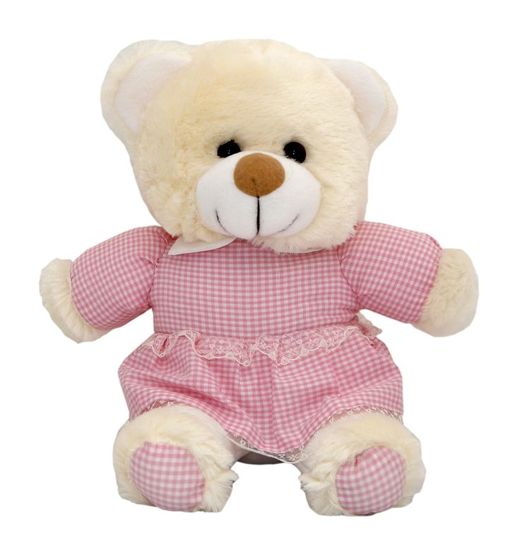 They'll go to bed early with this adorable Teddy Bear. Dressed in pink stripped pijamas, this super-soft Teddy will be their bedtime buddy long after they'll admit to it.  #NewBaby #TeddyBear