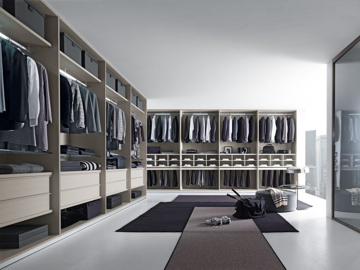 Contemporary style walk-in wardrobe VARIUS by Presotto Industrie Mobili | design Tormena-neadesign