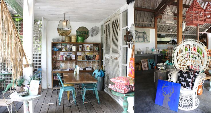 Bungalow Living. Cafe and homewares store in Canggu/Seminyak in Bali. Featured in the book Lost Guides Bali