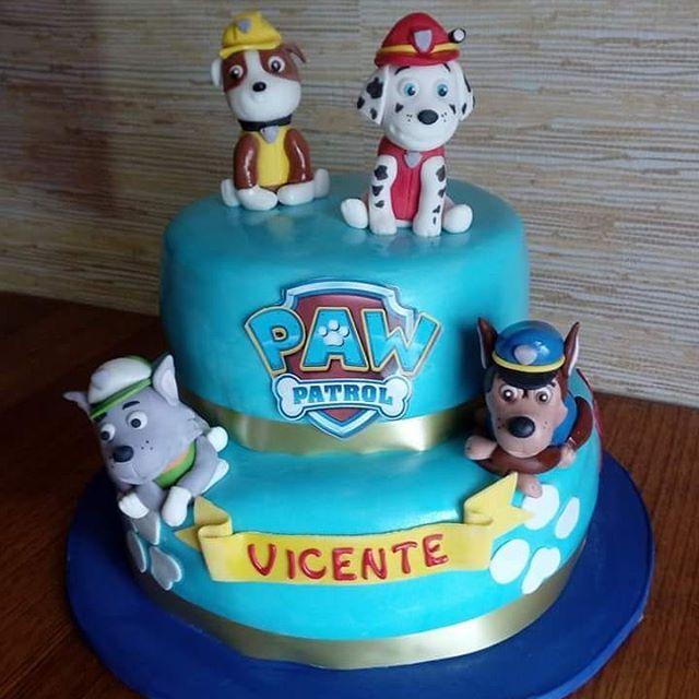 #PawPatrol #miniDog #fondant #cake by Volován Productos #instacake #puq #Chile #VolovanProductos #Cakes #Cakestagram #SweetCake