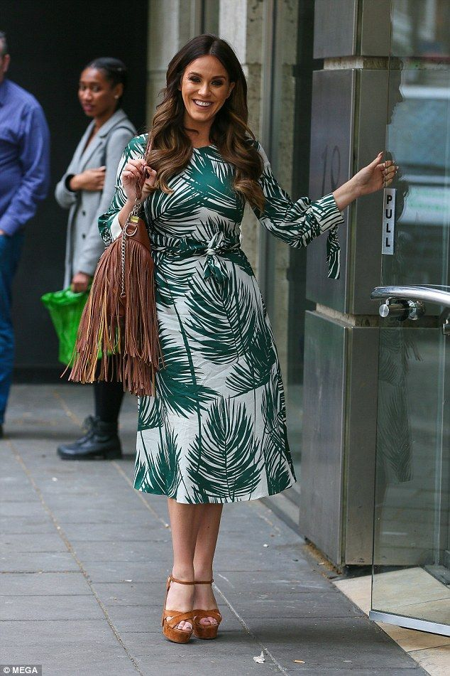 Green dream:Vicky Pattison proved her chic sense of style on Friday, as she embarked on a...