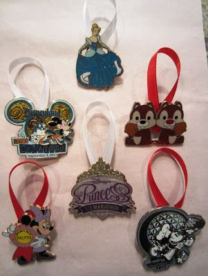 WDW Pins turned into Christmas ornaments..........I see a new Christmas tree in my house!