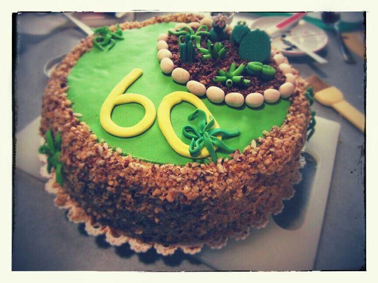 Il giardino più dolce... comply papà 2013 torta di compleanno decorata con piantine grasse - birthday cake decorated with succulent plants