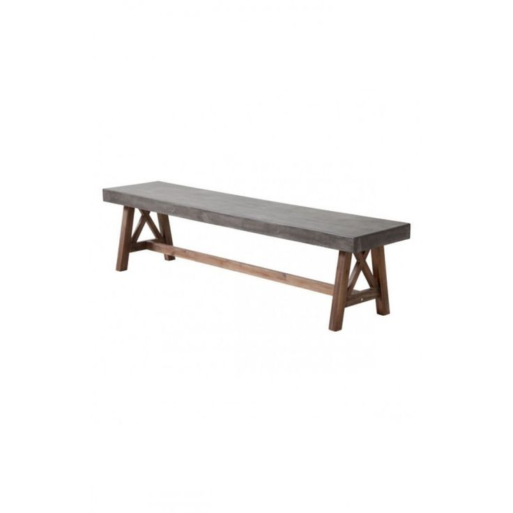 Hard and Strong Cement & Natural Bench https://www.studio9furniture.com/bedroom/benches/ford-bench-cement-natural  This bench has a strong wood base enough to support a non-porous epoxy and cement mix designed top.
