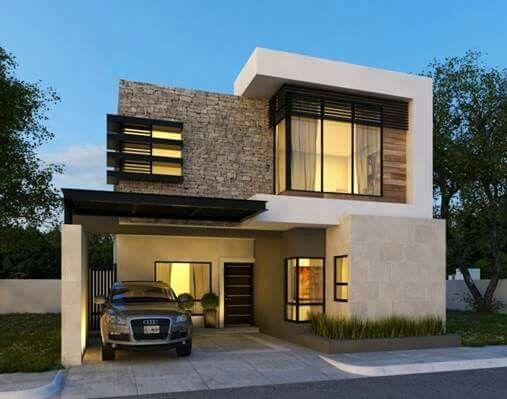 Pin de susan denton en deck pinterest fachadas casas for Departamentos minimalistas fachadas