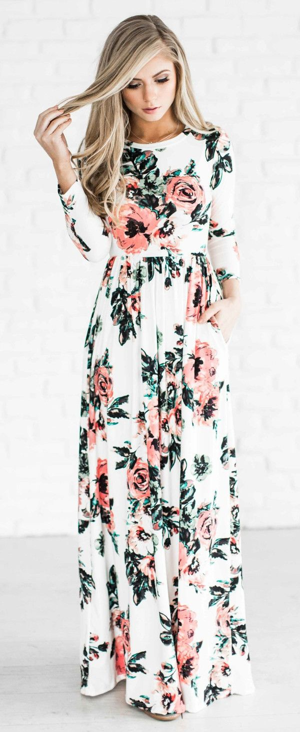 floral maxi dress: spring and early fall dress. Could find at jcp. I like the floral print.