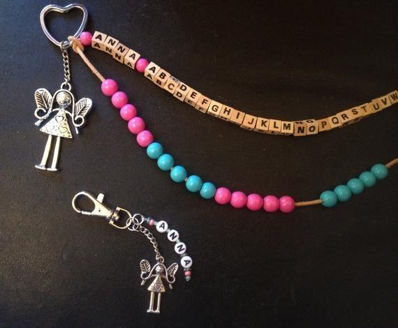 Einschulung Geschenk Set Taschenanhänger Armband Rechenkette Schulkind