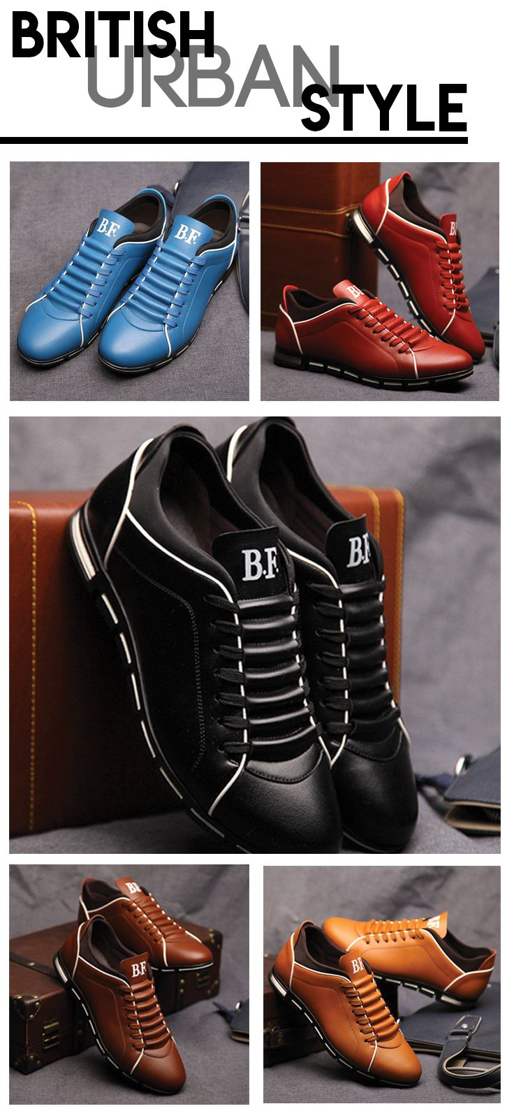 eee8944e40f8 Men s British Urban shoes - Clean style and look at the best value  -----------  Urbanstyle men s attire fashion UK leather casual sneaker   mensshoes   ...