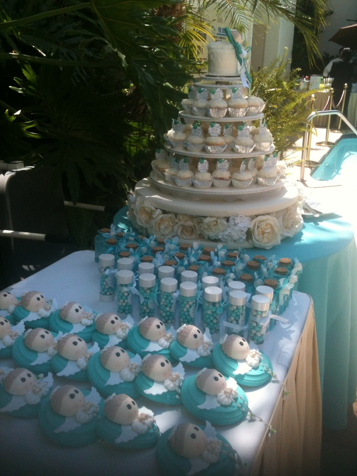Cupcake Tower And Party Favors Baptism Held At Anabella