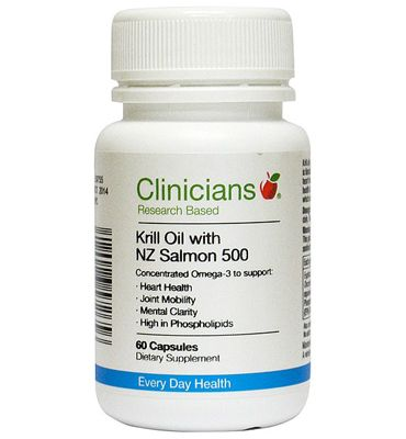 Krill Oil with NZ Salmon 500 – Clinicians – 60 Capsules | Shop New Zealand NZ$ 53.90