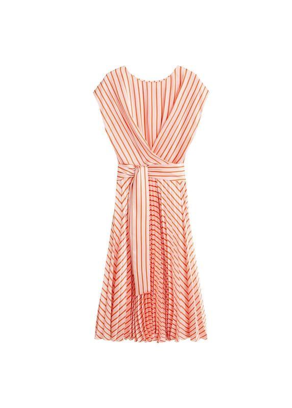 MANGO Kleid 'Сeremoni' in rosa / orangerot / weiß bei ...