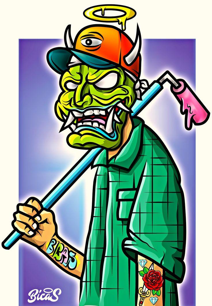 mask samurai , mascara samurai , graffiti , dead , ilustration , ilustracion , camisa , tradicional tatto , rodillo , graff , flop , diablo