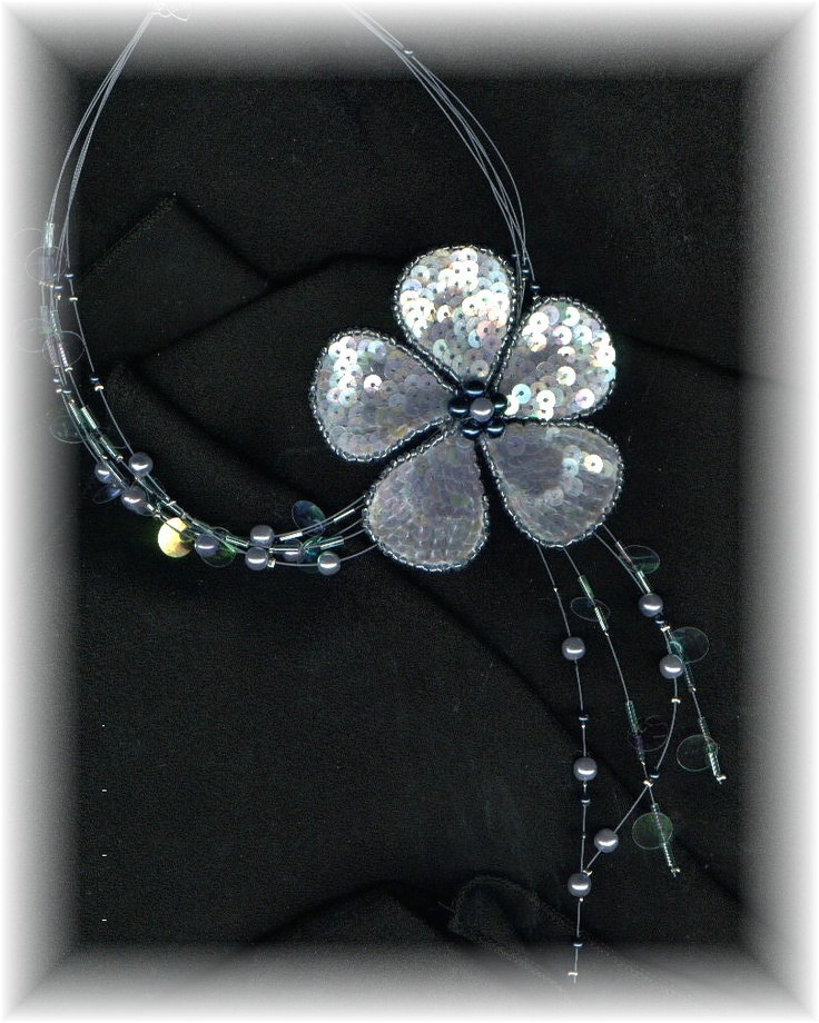 Cute, without the sequins. Flower necklace, Necklace