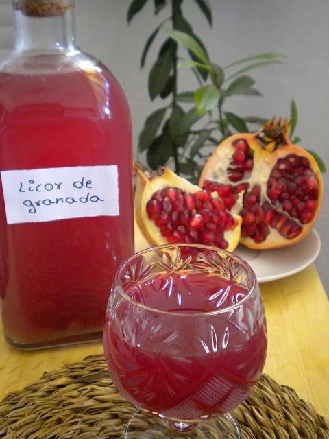 La cocina mágica de Manu: Licor de granada casero