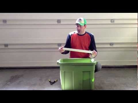 In this video Clint from http://gardenfrugal.com teaches you how to make a self watering container for under $10. All it takes is a rubbermaid tub and a little work.     Please rate, comment and subscribe.    Thanks for watching,    Clint