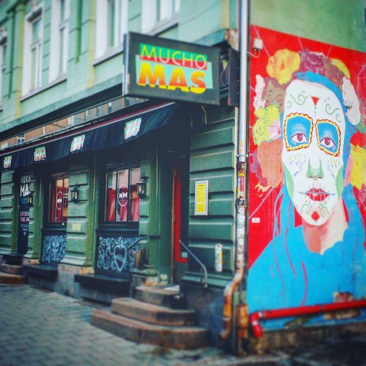I think Grünerløkka means 'a colorful celebration of life'. #noreay #oslo #grünerløkka #grunerløkka #muchomas #colorful #celebration #art #publicart #streetart #streetphotograhy #graffiti #graffitiart #spraypaint #sprayart #mural #storefronts #restaurant #bar #exterior #exteriordesign #travel #travelgram
