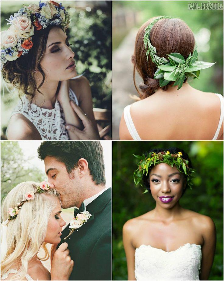 Svadobné účesy so živými kvetmi vo vlasoch