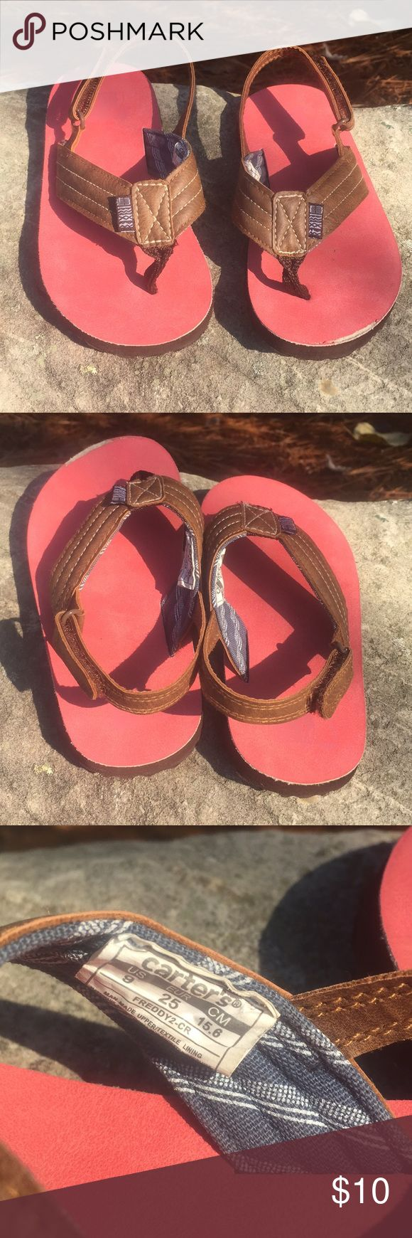 Carter's toddler 9 rear strap flip flops