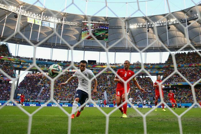 Switzerland 2 France 5 in June 2014 in Salvador. Mathieu Valbuena makes it 3-0 before half time in Group E #WorldCupFinals