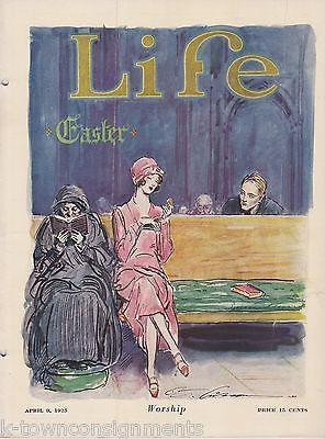 EASTER SUNDAY WORSHIP COVER ART MICHELIN GRAPHIC ILLUSTRATED LIFE MAGAZINE 1925